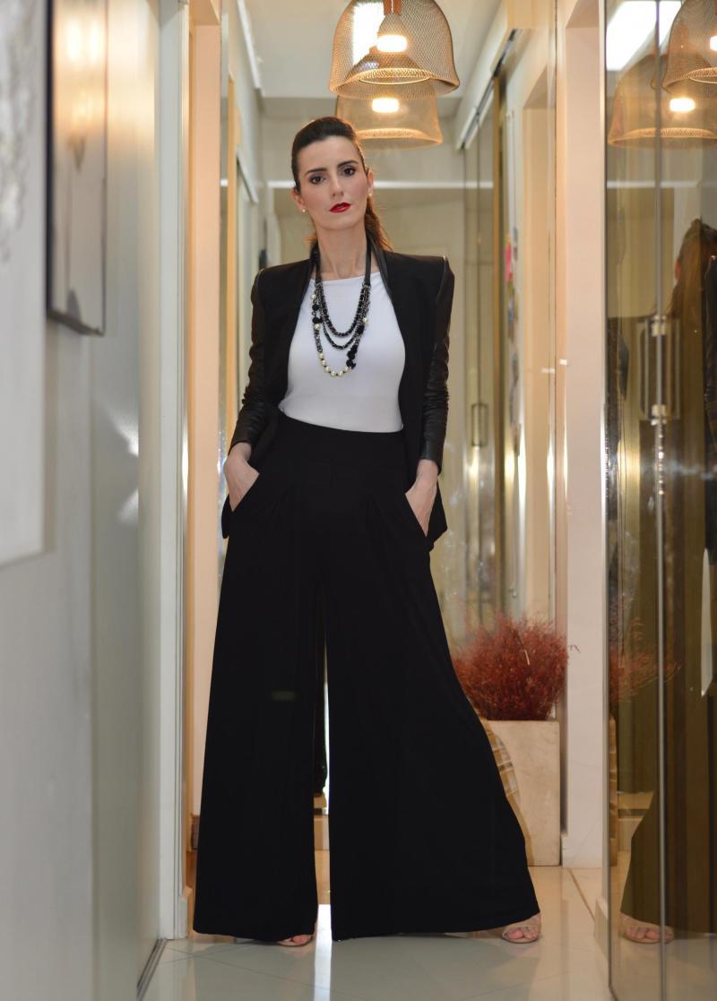 Foto do produto Calça Pantalona Cinthia - Preto